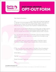 GIT Girls Program Resources | Opt-Out Form